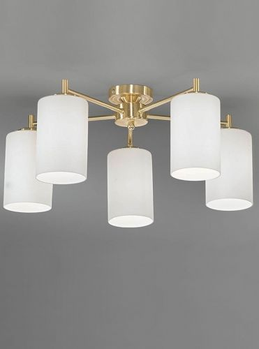 Franklite FL2252/5 Satin Brass Ceiling Light